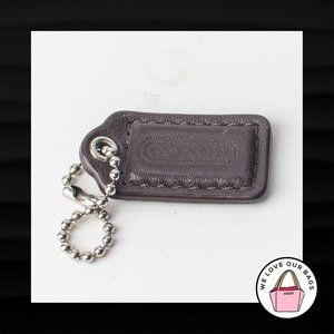 1.5″ Small COACH BROWN LEATHER KEY FOB CHARM